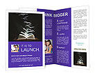 Flying Book Pages Brochure Templates