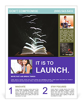 Flying Book Pages Flyer Template Design ID - Pages flyer templates