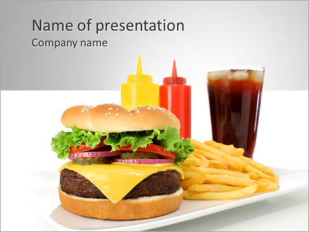 Fastfood Powerpoint Template Backgrounds Google Slides Id