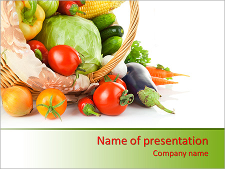 Busket with vegetables powerpoint template backgrounds id busket with vegetables powerpoint templates toneelgroepblik Image collections