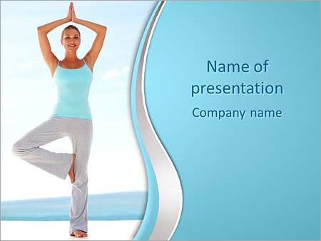 yoga asana powerpoint template & backgrounds id 0000004349, Presentation templates
