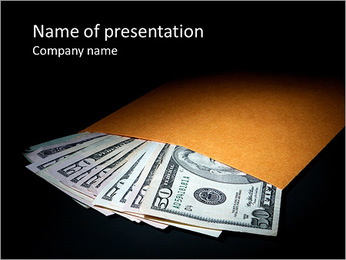 Dollars In Envelope PowerPoint Template