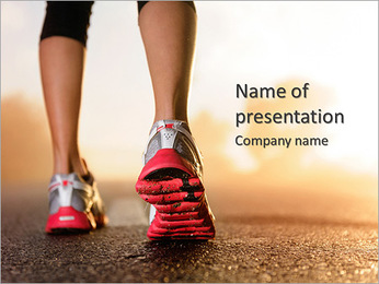 Jogging As Lifestyle PowerPoint Template