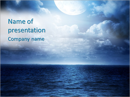 view to the ocean powerpoint template & backgrounds id 0000004352, Modern powerpoint