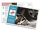 Mechanician At Work Postcard Template