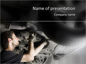 Mécanicien au travail Modèles des présentations  PowerPoint