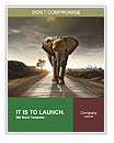 Elephant On The Road Word Templates