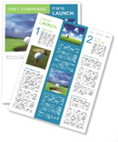Playing Golf Newsletter Template