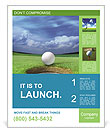 Playing Golf Poster Templates