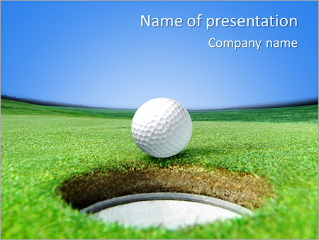 Playing golf powerpoint template backgrounds id 0000004358 playing golf powerpoint templates toneelgroepblik Image collections