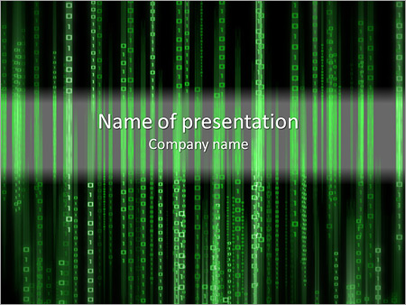 matrix powerpoint template & backgrounds id 0000004359, Powerpoint templates