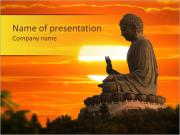 Peaceful Estatua de Buda Plantillas de Presentaciones PowerPoint