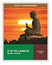 Peaceful Buddha Statue Word Templates