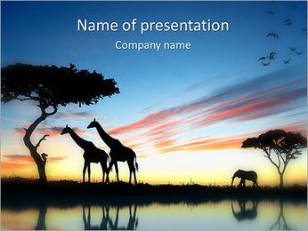 Wild Giraffe PowerPoint Template