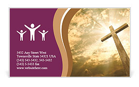 Catholic Cross Business Card Template