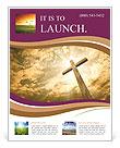 Catholic Cross Flyer Template