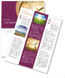 Catholic Cross Newsletter Templates