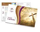 Catholic Cross Postcard Template