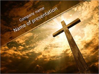 Catholic Cross PowerPoint Template