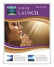Woman Prays Flyer Template