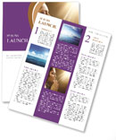Woman Prays Newsletter Templates