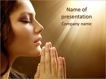 Woman Prays PowerPoint Template