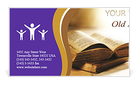 Bible Book Business Card Template