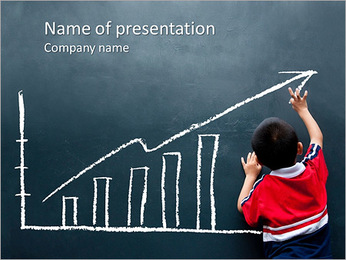 Boy Draws Chart PowerPoint Template