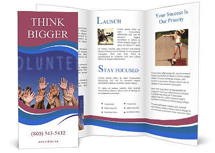 Volunteering Brochure Template Design Id 0000004378