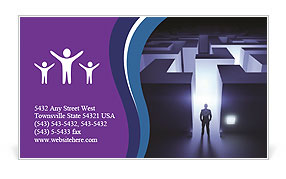 Man In labyrinth Business Card Template