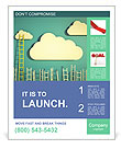 Cloud And Ladder Poster Template