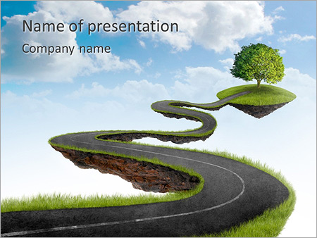 Tree on the road powerpoint template backgrounds id 0000004390 tree on the road powerpoint templates toneelgroepblik Image collections