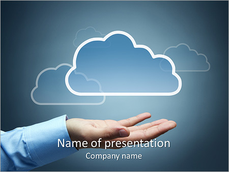 cloud picture powerpoint template & backgrounds id 0000004406, Modern powerpoint