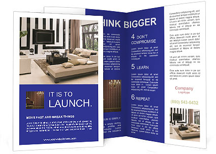 Living Room Interior Design Brochure Template  Design Id