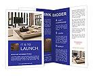 Living Room Interior Design Brochure Templates