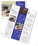 Living Room Interior Design Newsletter Templates