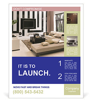 Living room interior design poster template design id for Interior design room layout template