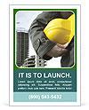 Worker At Construction Area Modelos de anúncio