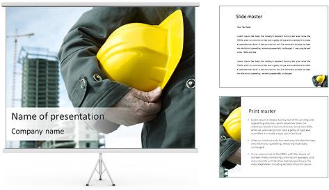 Trabalhador na área da construção Modelos de apresentações PowerPoint