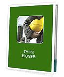 Worker At Construction Area Folhetos de apresentação
