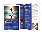 Running At Sunset Brochure Templates