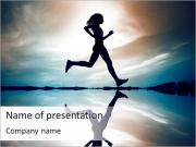 Running At Sunset PowerPoint Templates