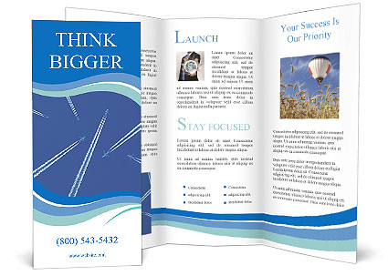 plane parade brochure template design id 0000004420