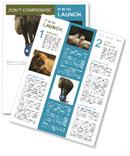 Elephant On Ball Newsletter Template