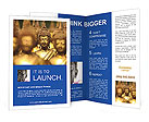 Golden Buddha Statue Brochure Template