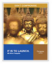 Golden Buddha Statue Word Templates