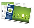 Green Light Lamp Postcard Templates