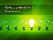 Зеленый свет лампы Шаблоны презентаций PowerPoint