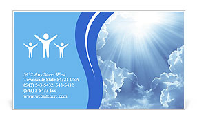 Light In The Sky Business Card Template