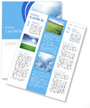 Light In The Sky Newsletter Templates